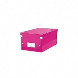 LEITZ Boîte Rangement Click&Store DVD WOW Rose