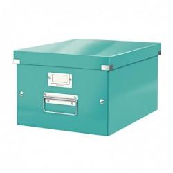 LEITZ Boîte de rangement Click & Store WOW A4 bleu glacial