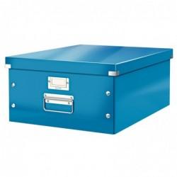 LEITZ Boîte de rangement WOW Click & Store Format large A3 Bleu