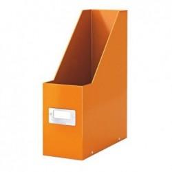 LEITZ Boîte à pans coupé Porte-revues Click & Store WOW A4 Carton Dos 10 cm Orange
