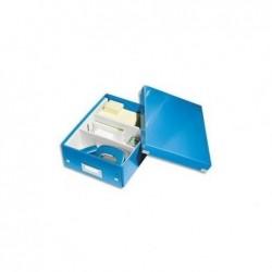 LEITZ Boîte de rangement Click & Store WOW A5 Avec Compartiment Bleu