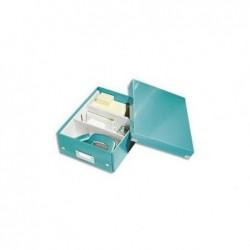 LEITZ boîte de rangement Click & Store WOW, petit,bleu glacé