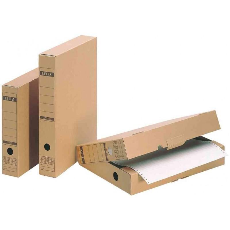 LEITZ Lot de 5 Boîtes d'archivage avec languette Brun (L)70 x (P)325 x (H)437