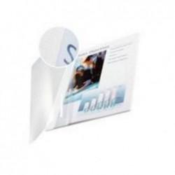 LEITZ Impressbind Lot de 10 Chemises Face souple 14 mm 106/140 Feuilles Transparent/Blanc
