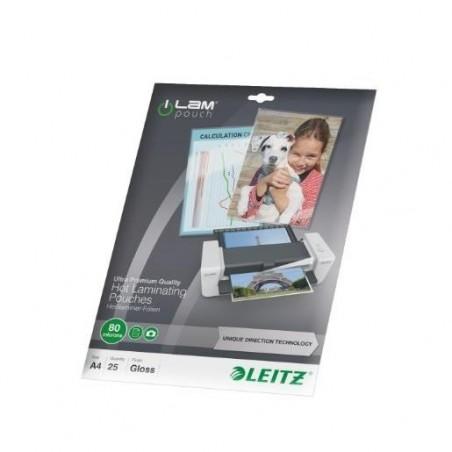 LEITZ Pochette à plastifier iLAM UDT A4 Brillante 160 Microns (2x80) Pqt de 25