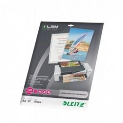 LEITZ Pochette à plastifier iLAM UDT A3 Brillante 250 Microns (2x125) Pqt de 25