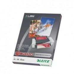 LEITZ Pochette à plastifier iLAM UDT A3 Brillante 350 Microns (2x175) Pqt de 100