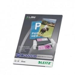 LEITZ Pochette à plastifier iLAM UDT A3 Brillante 500 Microns (2x250) Pqt de 25
