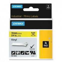 DYMO ruban en Vinyle, largeur: 19 mm, longueur: 5,5 m,jaune