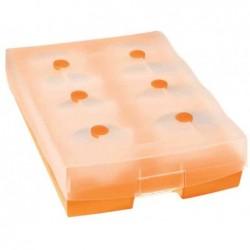 HAN Fichier linéaire CROCO DUO pour 2500 fiches A8 Orange Translucide
