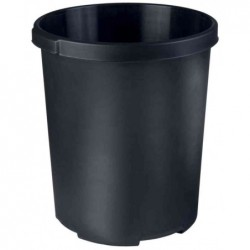 HAN Corbeille à papier MOBIL XXL 50 litres PP Rond 43 cm H 49 cm Noir