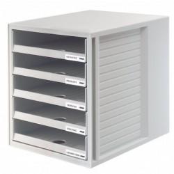 HAN Module de classement 5 tiroirs ouverts  275 x 320 x 330 mm Boîtier Gris / Gris