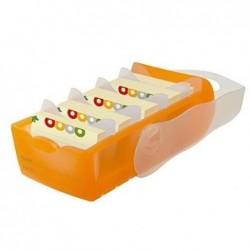HAN Boîte à fiches CROCO format A7 pour Env. 900 fiches Orange translucide