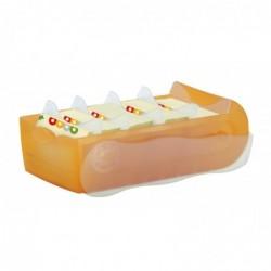 HAN Boîte à fiches CROCO format A8 pour Env. 500 fiches Orange translucide