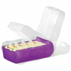 HAN Boîte à fiches CROCO format A8 pour Env. 500 fiches Violet translucide