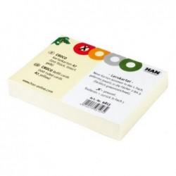 HAN Pqt de 100 Fiches d'apprentissage pour boîte à fiches CROCO A7 Lignées