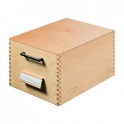 HAN Boîte à fiches en bois A6 paysage pour 500 à 900 fiches