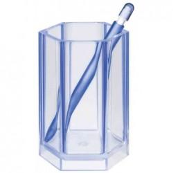 HAN Pot à crayons KLASSIK, plastique, bleu clair néon