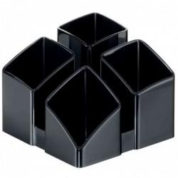 HAN Multipot à crayons SCALA 4 compartiments Noir