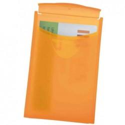 HAN Porte-cartes de visite COGNITO 64x100x10 mm Orange translucide
