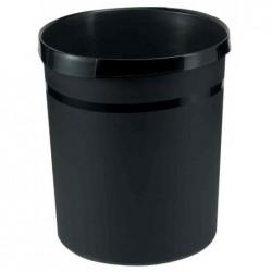 HAN Corbeille à papier GRIP 18 litres Ronde Diam 312 mm H 35 cm Noir