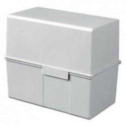 HAN Boîte à fiches plastique pour 450 fiches A5 228 x 171 x 102 mm Gris clair