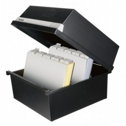 HAN Boîte à fiche pour Env 1300 fiches A4 paysage 320 x 250 x 360 mm Noir