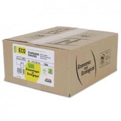 GPV Boite de 500 enveloppes blanches DL 110x220 75 g  bande de protection