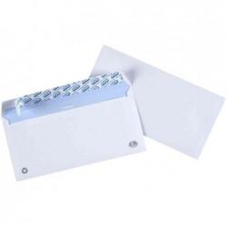 GPV Paquet de 50 enveloppes blanches DL 110x220 75 g  fenêtre 45x100