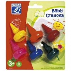 LEFRANC BOURGEOIS Etui de 6 Baby crayons, ergonomiques