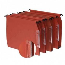 L'OBLIQUE AZ Bte de 25 Dossiers suspendus Armoire Defi fond 15 mm 220g Volet d'arafage Orange