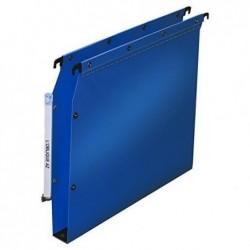 L'OBLIQUE AZ Pack 10 Dossiers suspendus polypro fun 330, fond 15mm bleu pour armoire