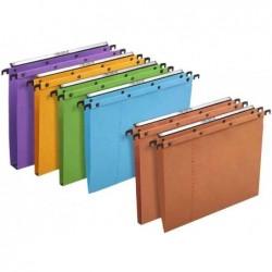 L'OBLIQUE AZ Pack de 10 Dossiers suspendus AZO Ultimate Tiroirs Fond V Orange