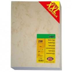 SIGEL papier marbré, A4, 200 g, carton prestige, beige contenu: 25 feuilles (DP191)