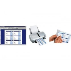 SIGEL cartes de visite 3C, 85 x 55 mm, vanille pastell, 100 sur 10f