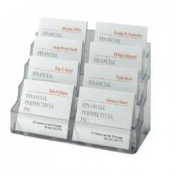 SIGEL Porte-cartes de visite plastique Rigide 8 compartiments