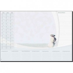 "SIGEL Sous-main papier ""Harmony"", 590 x 410 mm 30F Calendrier 2013/14/15"