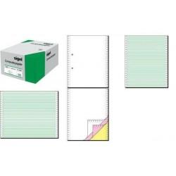 """SIGEL papier listing sans fin, 240 x 30,48 cm (12""""), A4, triple, blanc 1000f"""