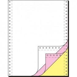 "SIGEL Carton de 600 feuilles listing 240 x 30,48 cm (12"") 3 plis Blanc/Rose/Jaune"