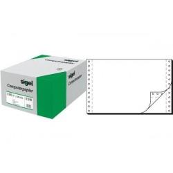 """SIGEL papier listing sans fin, 240 x 15,24 cm (6""""), A5, double, 2000f"""