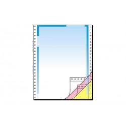 SIGEL Papier de communication en continu, couleur dégradée rouge/jaune, A4, 3 ex