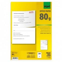 """SIGEL Boite 100 feuilles Papier universel """"MultiPrint"""" 80g A4 perforé au format A5"""