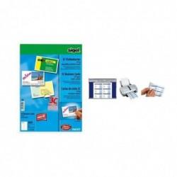 SIGEL Cartes de visite 3C, 210 g/m2, 85 x 55 mm, extra blanc, 100 sur 10