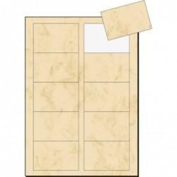 SIGEL Pqt 100 Cartes de visite imprimable 3C 85 x 55 mm 225g Marbre beige