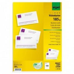 SIGEL Pqt 10 planches de 15 carte de visite imprimables 85 x 55 mm 185 g Extra blanc