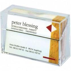 SIGEL boîte Cristal pour cartes de visite jusqu'à 86 x 55 mm