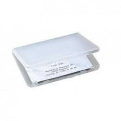 SIGEL Etui pour  25 cartes de visite Polypro 90 x 55 mm Transparent mat