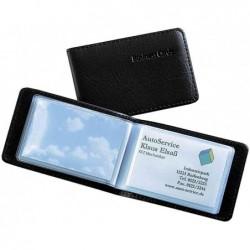 SIGEL Etui aspect cuir pour 40 cartes de visite 90 x 58 mm, noir
