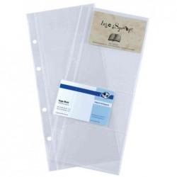 SIGEL Pqt de 10 pochettes pour 8 cartes de visite 90x58 mm 1 rangée
