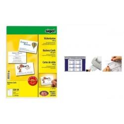SIGEL cartes de visite, 85 x 55 mm, 180 g/m2,extra blanc, 600 sur 60f
